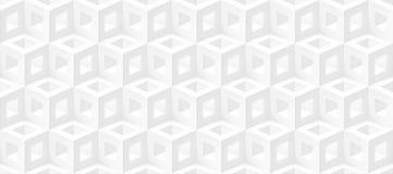 De realistische 3d vectorkubussen steken textuur, geometrisch naadloos patroon aan, ontwerpen witte achtergrond voor u projecten stock illustratie