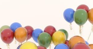 De realistische Kleurrijke Close-up van Partijballons Stock Foto's