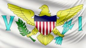 De realistische mooie Maagdelijke vlag van de Eilandenv.s. 4k stock footage