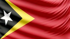 De realistische mooie vlag Oost- van Timor 4k stock illustratie