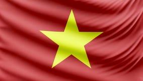 De realistische mooie vlag van Vietnam 4k stock videobeelden