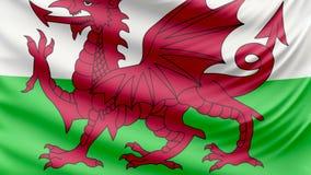 De realistische mooie vlag van Wales 4k stock videobeelden