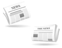 De realistische pictogrammen van de krant Royalty-vrije Stock Foto