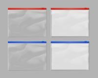 De realistische plastic spot van de ritssluitingszak plaatste omhoog royalty-vrije illustratie