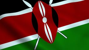 De realistische vlag van Kenia royalty-vrije illustratie