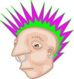 De Rebel van Mohawk van de punkmuziek Royalty-vrije Stock Foto