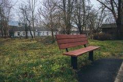 De recente Herfst in een stad genoemd Liepaja Stock Afbeelding