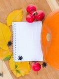 De recepten van de herfst Stock Afbeeldingen