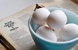 De Recepten van het ei stock afbeelding