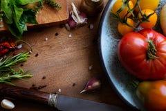De recepten van het kunstvoedsel royalty-vrije stock foto