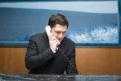 De receptionnist van het hotel royalty-vrije stock afbeelding