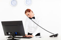 De receptionnist van het hotel Stock Foto