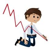 De recessie van de zakenman Royalty-vrije Stock Afbeeldingen