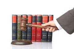 De rechter kondigt het oordeel aan royalty-vrije stock fotografie