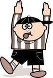 De rechter van de voetbal Stock Afbeeldingen