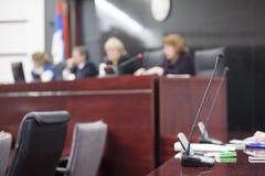 De rechters bij hof huisvesten Royalty-vrije Stock Foto