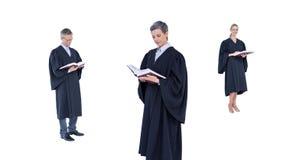 De rechters groeperen lezing stock foto's
