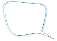 De rechthoek rond gemaakte bel van de hoekentoespraak voor dialoog Geïsoleerdj op witte achtergrond Stock Afbeeldingen