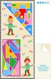 De rechthoeken en de driehoeken math raadsel van de telling Royalty-vrije Stock Foto's