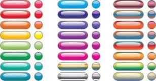De rechthoekknopen van het menu voor kleurrijk Web Stock Afbeelding