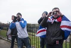 De rechtse verdedigers dagen antiukip-protesteerders Margate uit Royalty-vrije Stock Fotografie