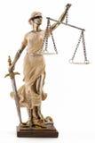 De rechtvaardigheid is blind (? of misschien niet) stock fotografie