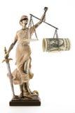 De rechtvaardigheid is blind (? of misschien niet) royalty-vrije stock afbeelding