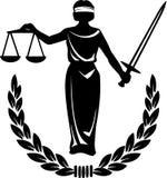 De Rechtvaardigheid van de wet Royalty-vrije Stock Afbeelding