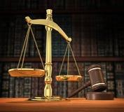 De rechtvaardigheid wordt gediend Stock Foto