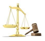 De rechtvaardigheid wordt gediend vector illustratie