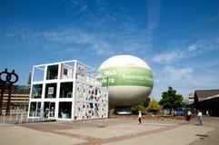 De reclame van ballon die in Hamburg bezienswaardigheden bezoeken Royalty-vrije Stock Afbeelding