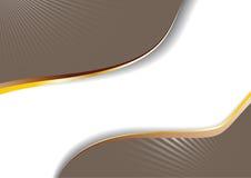 De reclame van cappuccino's met gouden lijnen stock illustratie