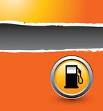 De reclame van de benzinepomp Stock Afbeelding