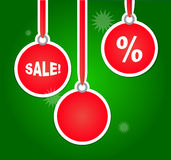 De Reclame van de Kerstmisverkoop met Bollen Stock Fotografie