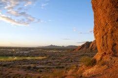 De recreatiepark van het Park van Papago in Phoenix Az Stock Foto
