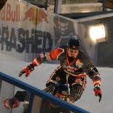 De Red Bull Verpletterde concurrentie van het Ijs Stock Fotografie