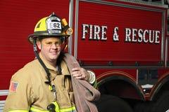 De Redding van de brand Stock Foto's