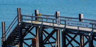 De reddingsboten bij de pijler van sumer haven BÃ ¼ stock fotografie