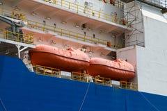 De Reddingsboten van het schip Stock Afbeelding