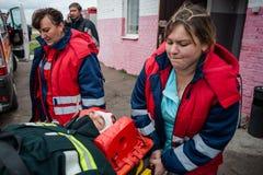 De reddingsdiensten opleiding Stock Afbeelding