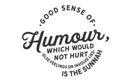 De redelijkheid van humeur, die geen anders gevoel zou kwetsen of geen leugens zou impliceren is sunnah vector illustratie