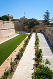 De Redin Bastion – a part of the fortifications of Mdina, Malt Royalty Free Stock Photo
