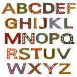 De reeks brieven, geruite Schotse wollen stof stock illustratie