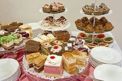 De reeks cakes Royalty-vrije Stock Afbeelding