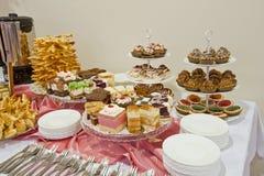 De reeks cakes Stock Afbeelding