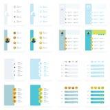 De reeks chronologievectoren ontwerpt 16 in 1 Royalty-vrije Stock Afbeelding