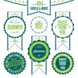 De reeks de zomergebeurtenissen bracht uitstekende etiketten met elkaar in verband Royalty-vrije Stock Afbeeldingen