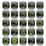 De reeks-ecologie van het pictogram Stock Afbeeldingen