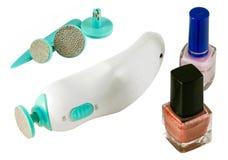 De reeks en het nagellak van de manicure royalty-vrije stock foto