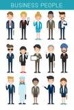 De reeks grote bedrijfsmensen groepeert Divers Team, Commercieel team van werknemers en de werkgever stock illustratie